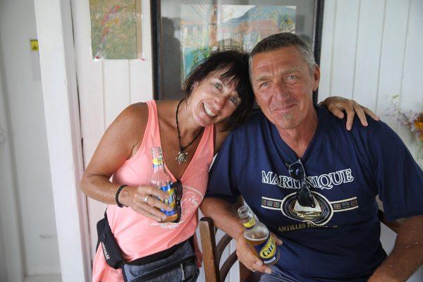 Karin und Jörg bei einer kleinen Zwischenerfrischung