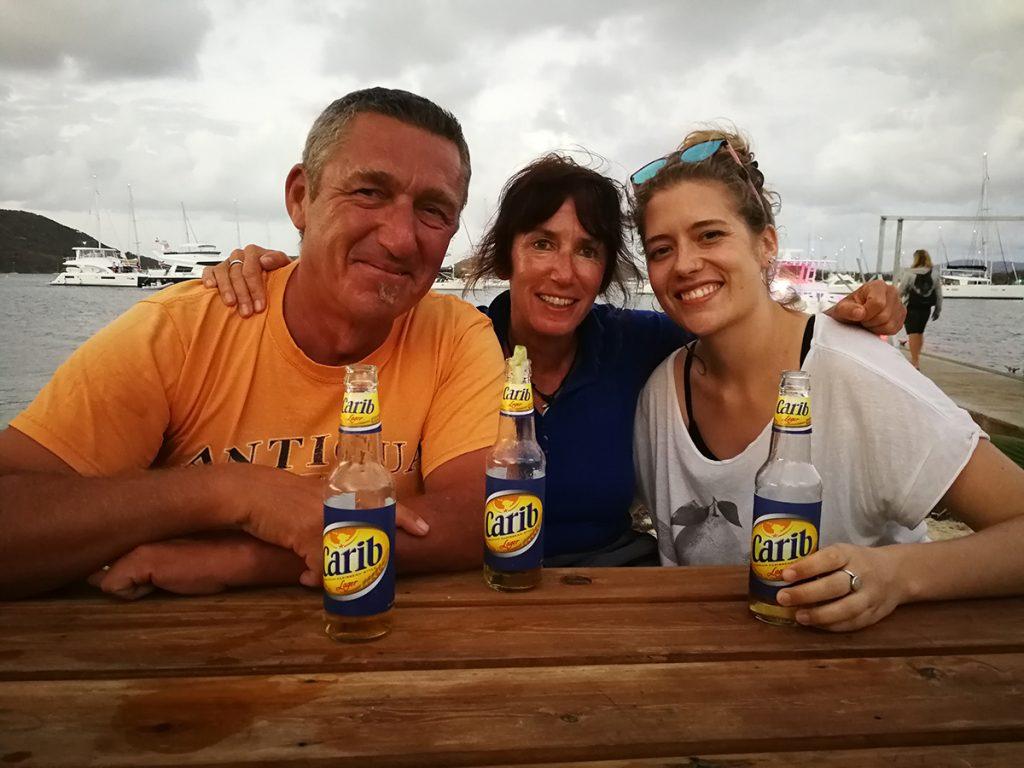 Karin, Miri und Jörg bei einem Carib