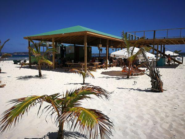 Die Bar auf Sandy Island, nach Hurricane Irma wieder aufgebaut