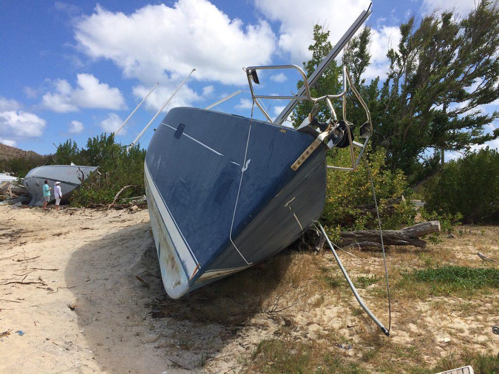 """Auf den BVI, immer noch Spuren von """"Irma"""" zu sehen"""