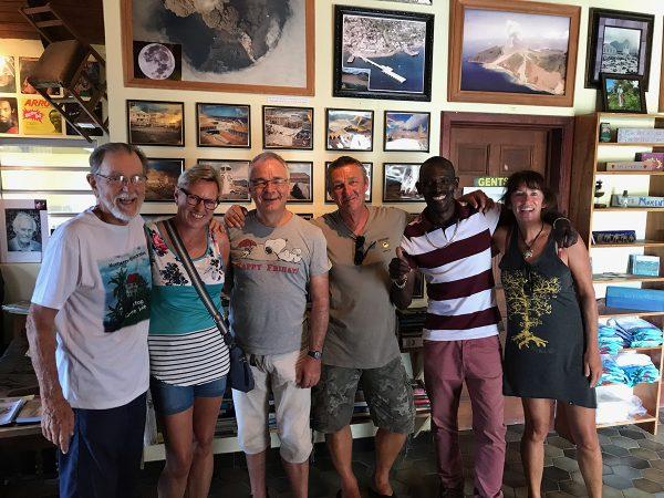 Ausflug auf Montserrat – Mit unserem Guide Lowrance bei David Lea im Hilltop Cafe