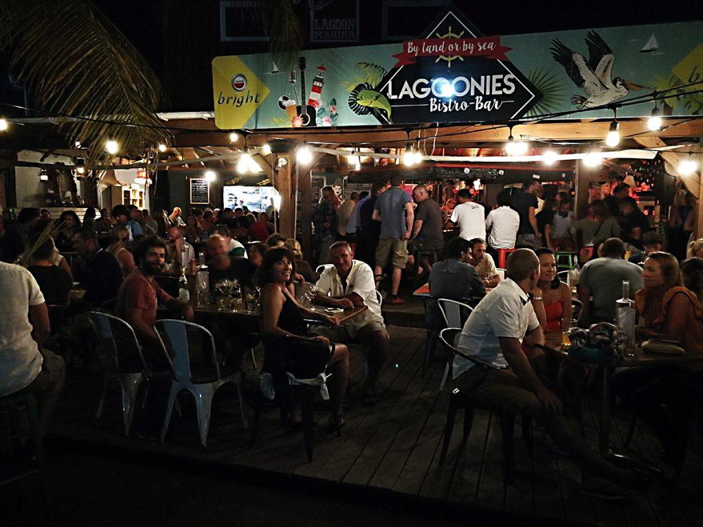Abendessen im Lagoonies auf Sint Maarten