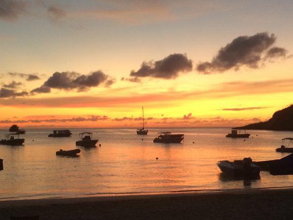 Sonnenuntergang in der Road Bay