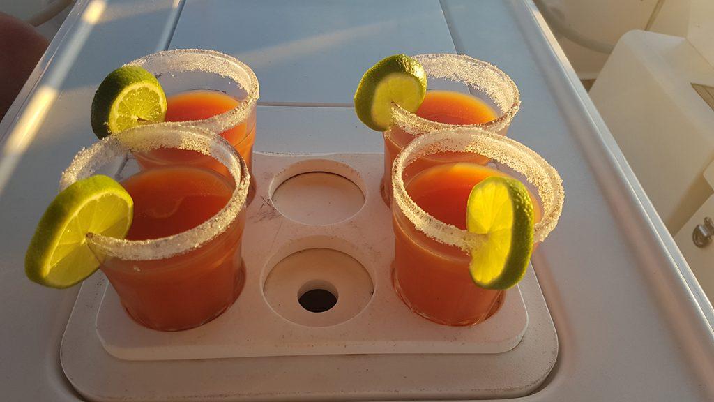 Unser täglicher Sundowner (natürlich brav alkoholfrei)