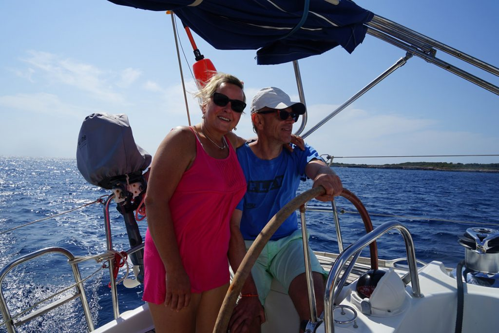Entspanntes Segeln bei Menorca