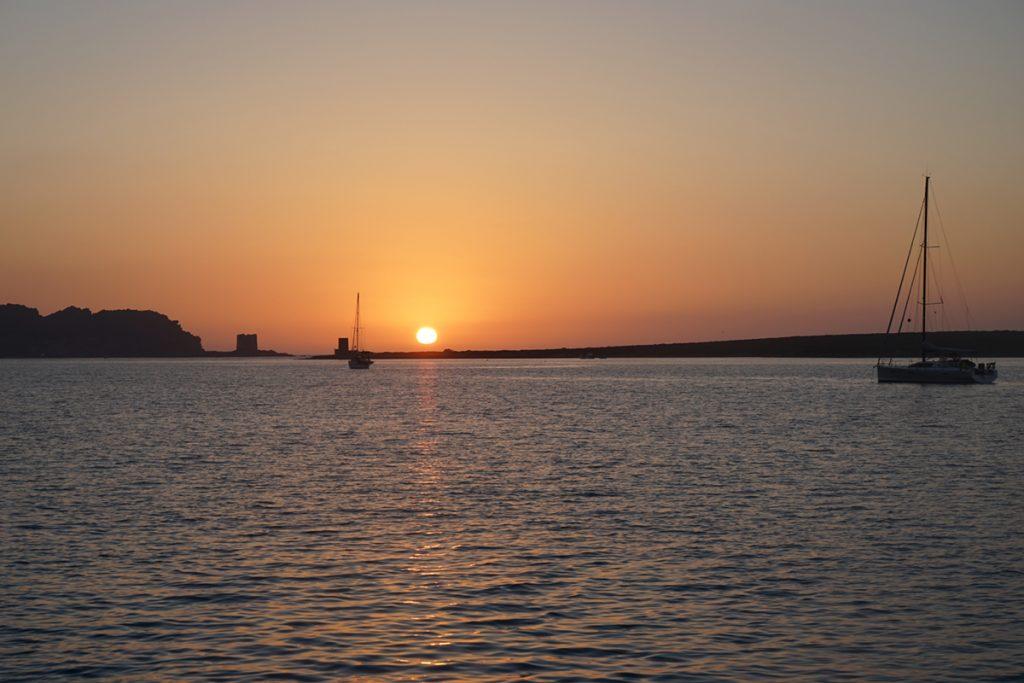 Tolle Ankerbucht bei Sardinien nach der Überfahrt von Menorca