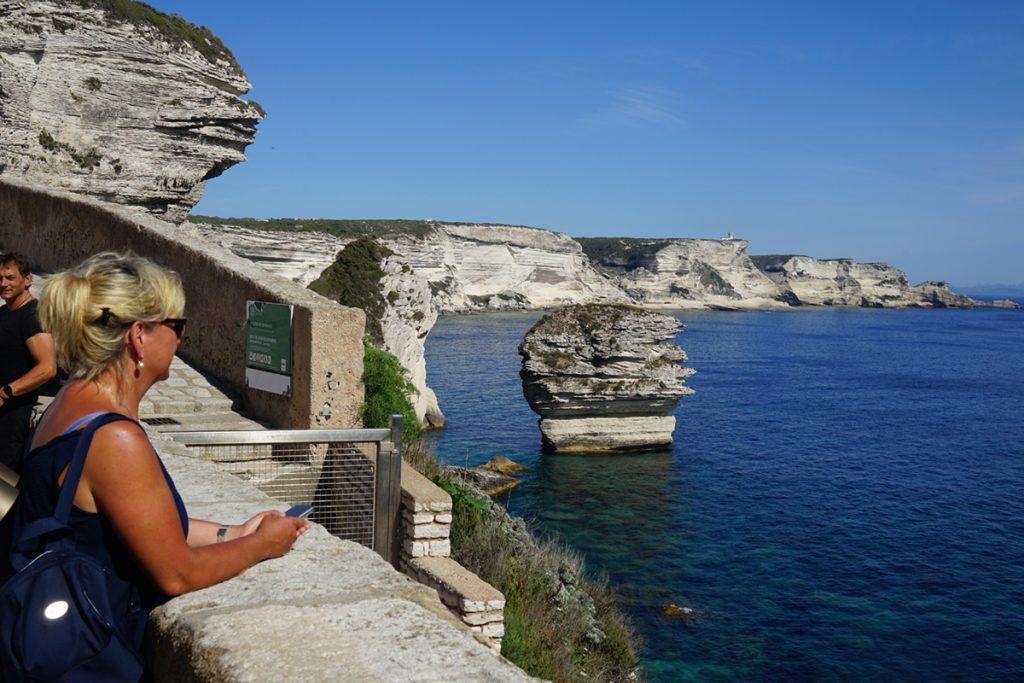 Traumhafter Blick von Bonifacio auf die Küste