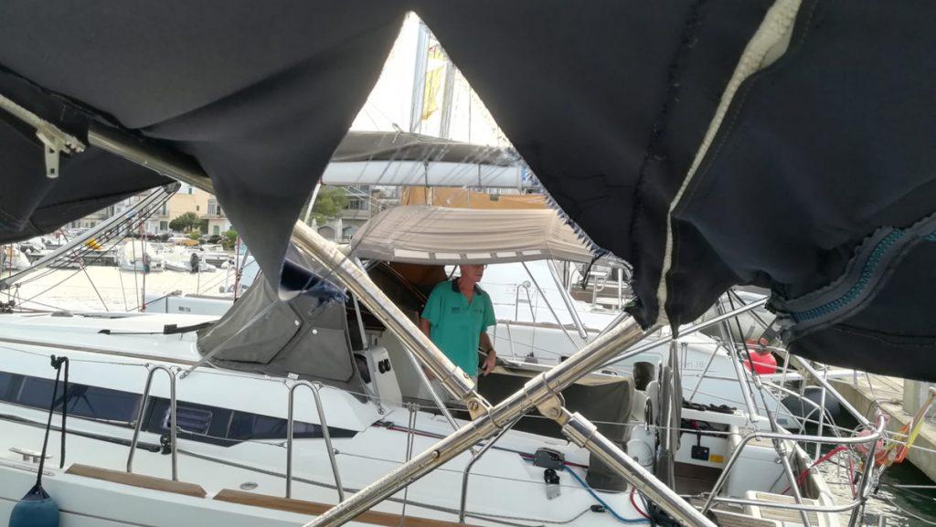 Sturmschaden – Bimini kaputt