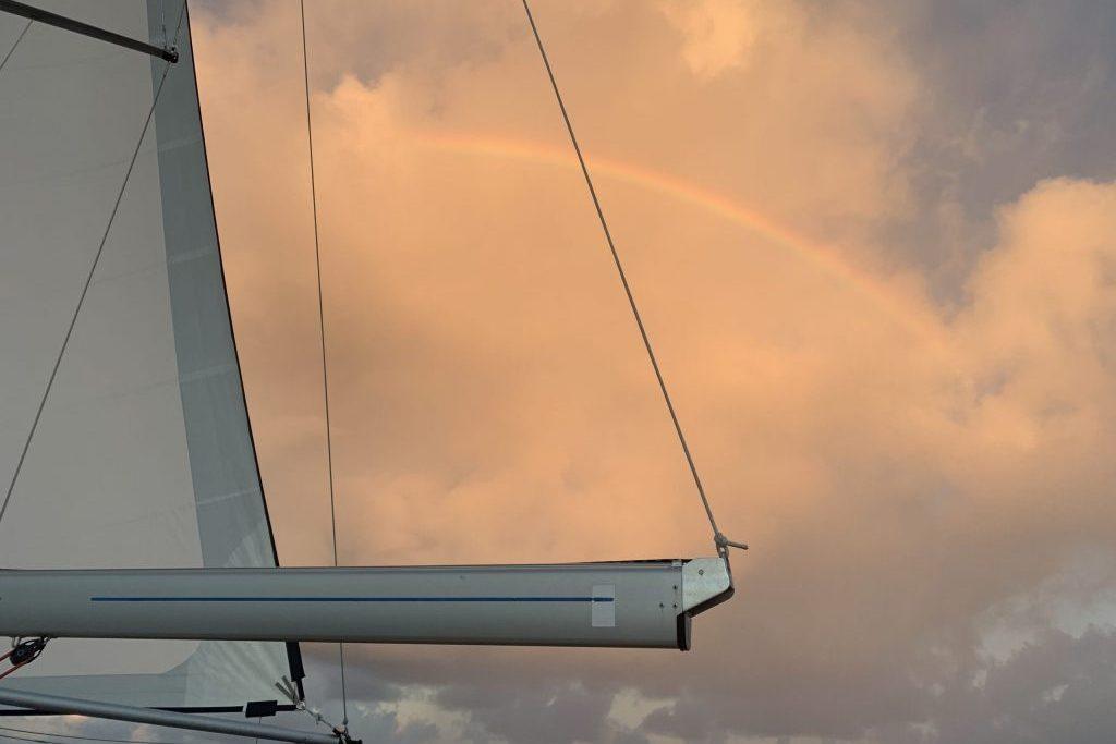 Regenbogen oben!