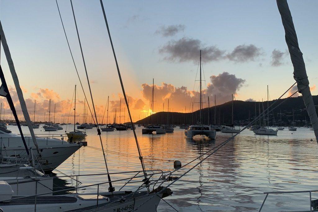 Der erste Abend in der Karibik
