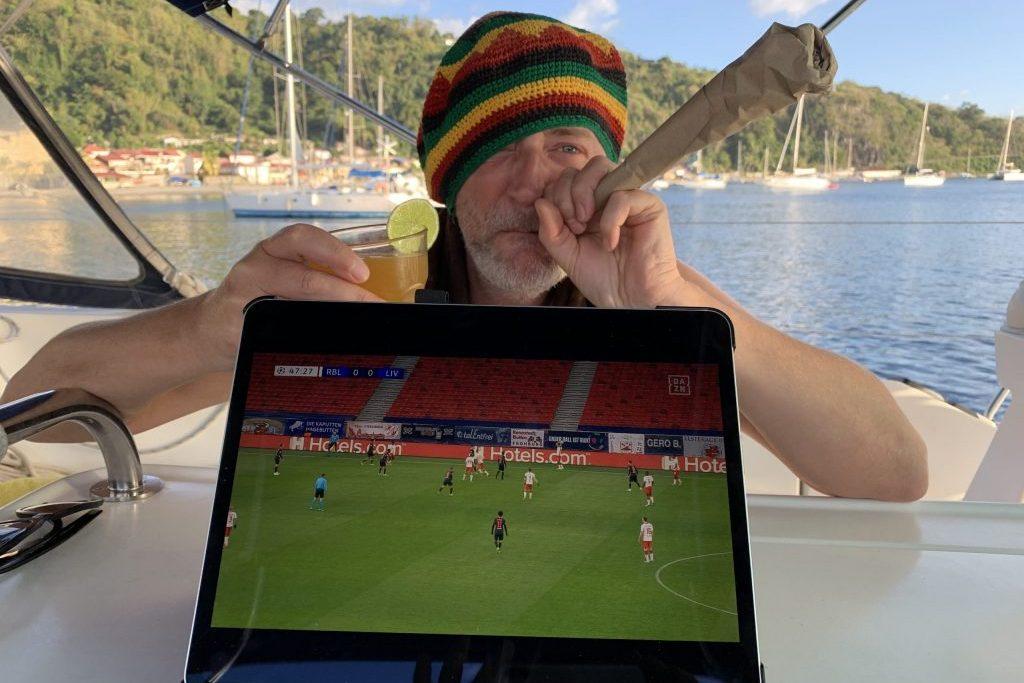 Ein Fussballabend in der Karibik
