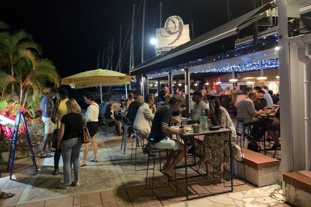 Restaurants am Hafen von Pointe a Pitre