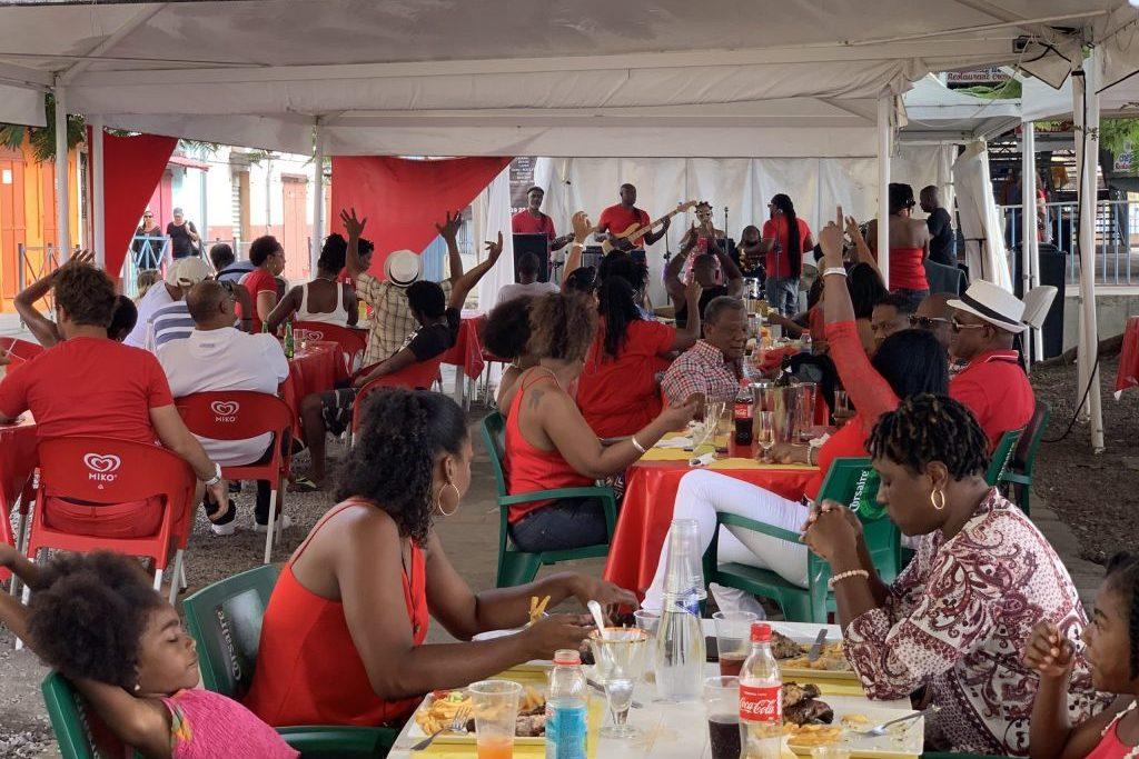 Karneval mit lokaler Band in Martinique