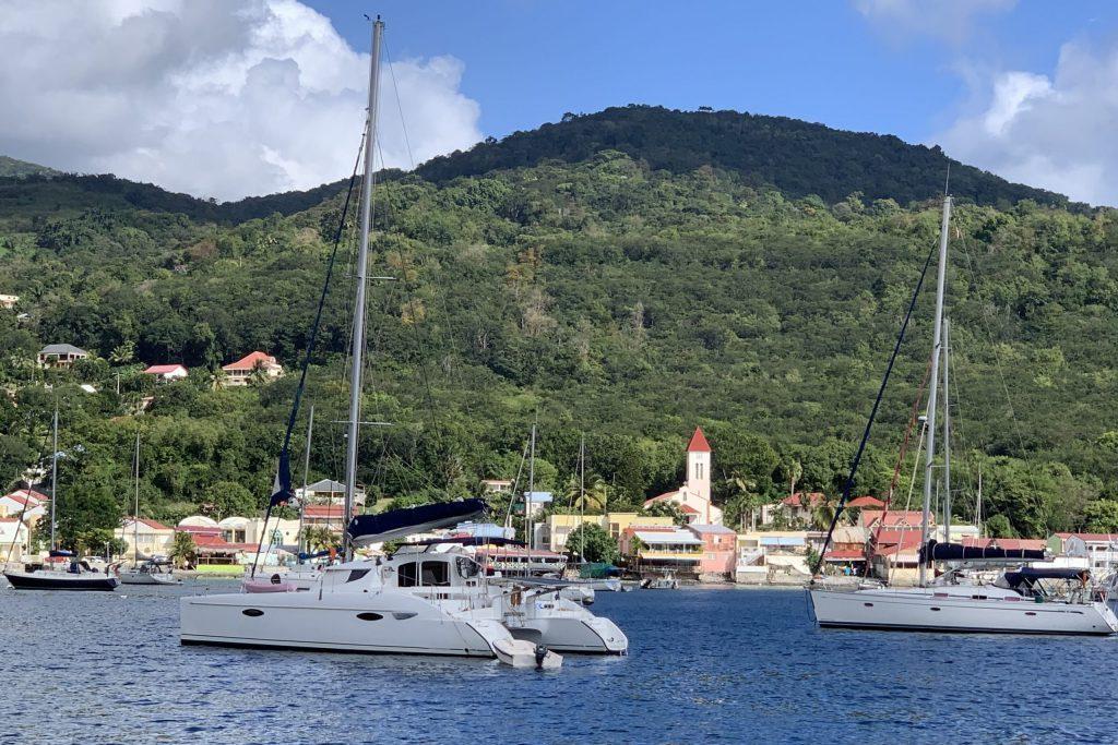 In der Bucht von Deshaies auf Guadeloupe
