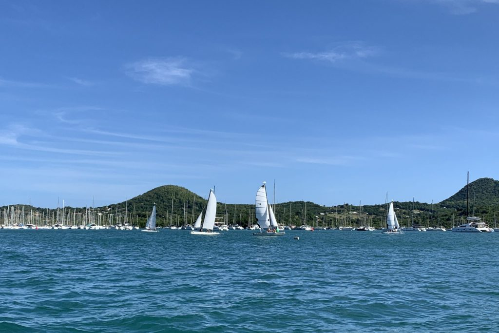 Segeltraining vor Le Marin