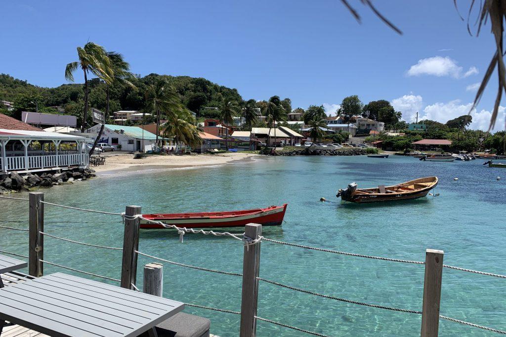 Boote vor Sainte Anne